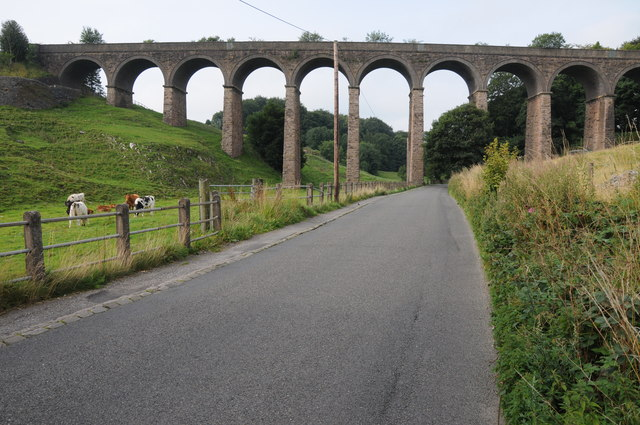 Railway viaduct just outside Buxton