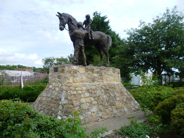 Pit Pony statue in the High Street