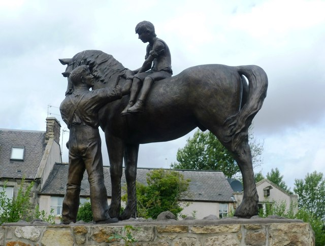 Pit Pony statue, High Street