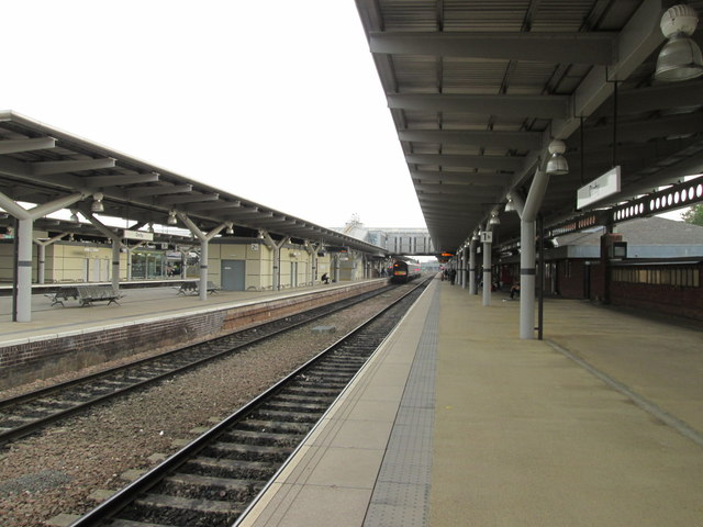 Unusually quiet at Derby station