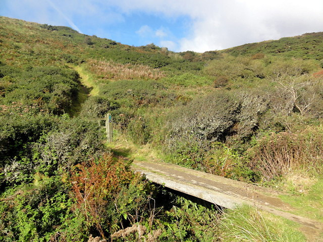 The Coast Path Crosses the Valley