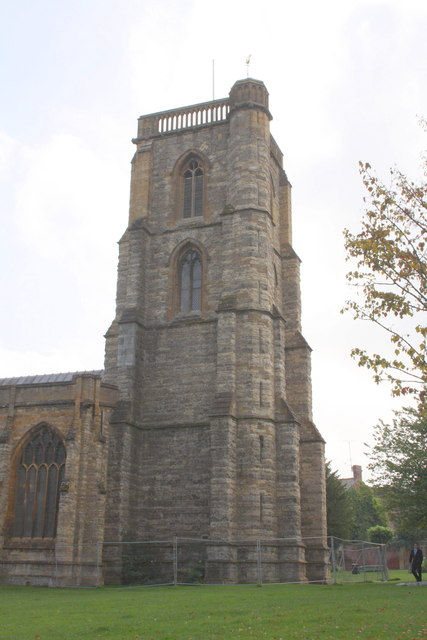 North face of the tower of St John the Baptist's Church