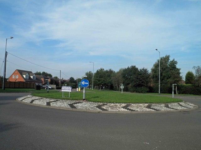 Roundabout on A4091 Fazeley
