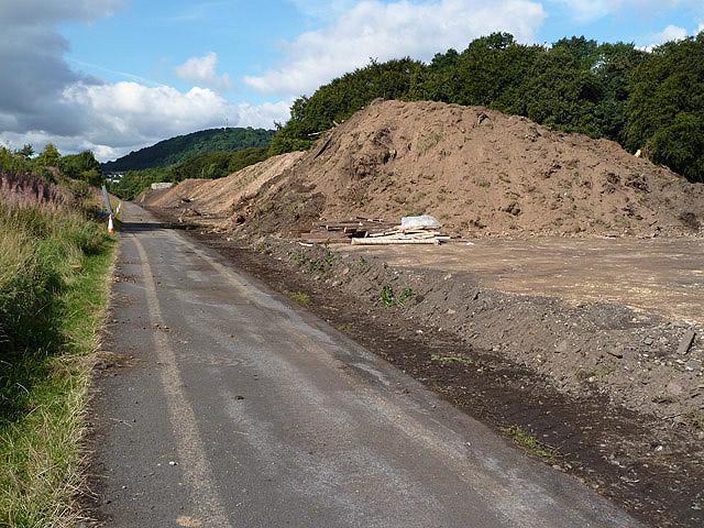 The Border Railway Works at Tweedbank