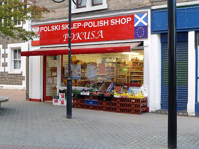 A Polish shop in Channel Street, Galashiels