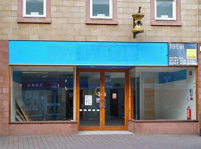 An empty shop in Galashiels