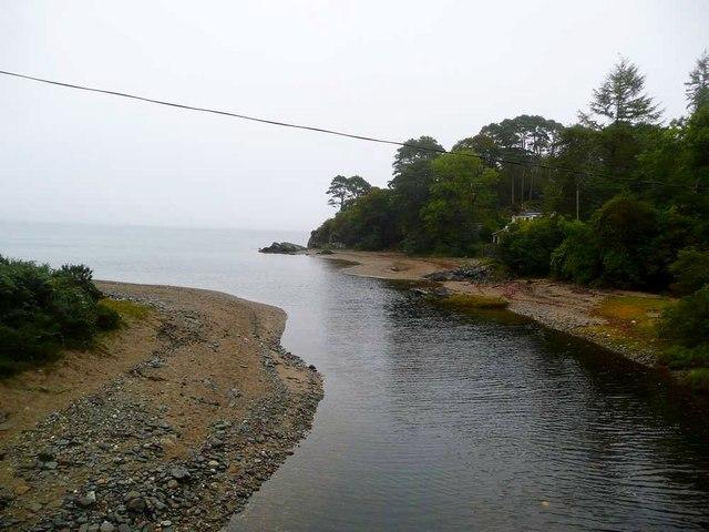 The Torrisdale Water enters the Kilbrannan Sound