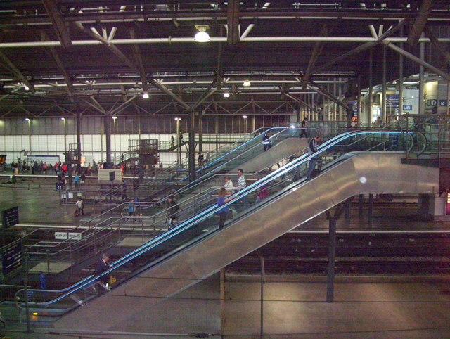 Escalator at Leeds Station