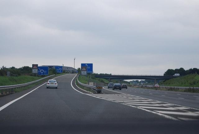 M4, J30 slip road