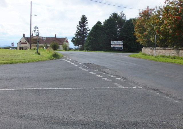 Road junction at West Allerdean