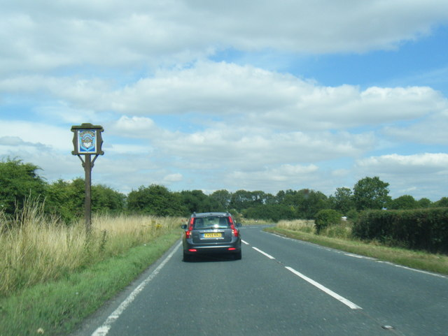 A1031 at Humberston boundary sign