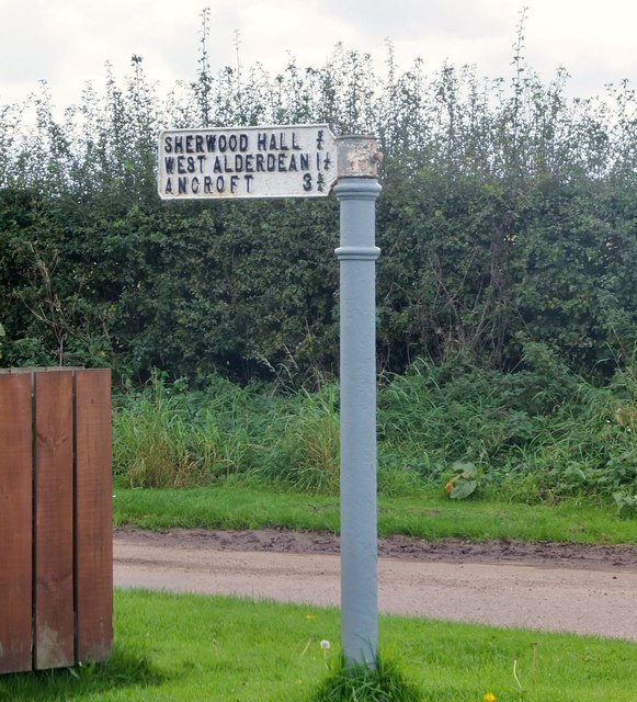 Old signpost with interesting spellings