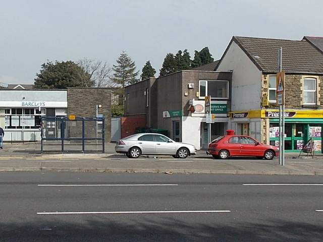 Bank and a post office in Fforestfach Swansea