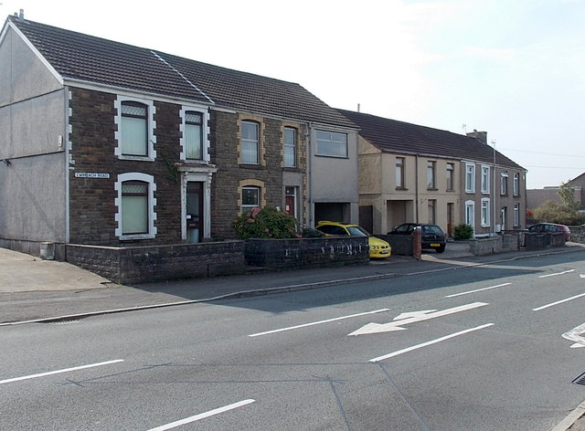Eastern end of Cwmbach Road, Swansea