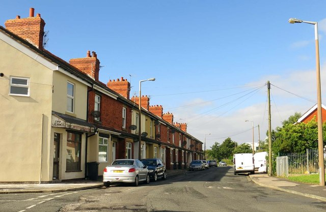 Terraced houses on Butts Road