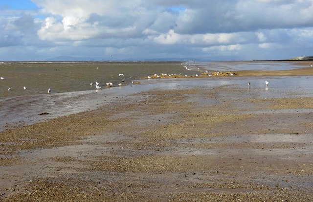 Rossall Beach at low tide