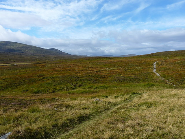 Stalkers' path above the Geldie Burn