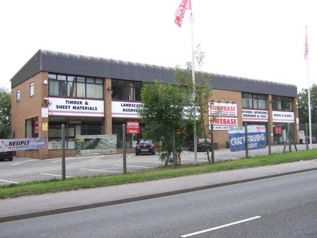 Builders merchants off Wakefield Road