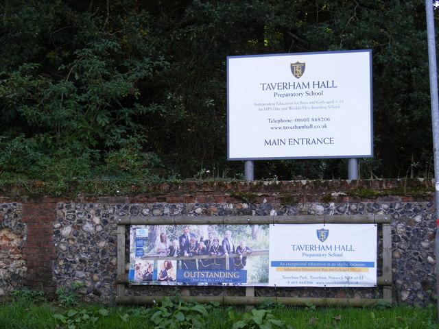 Taverham Hall School signs