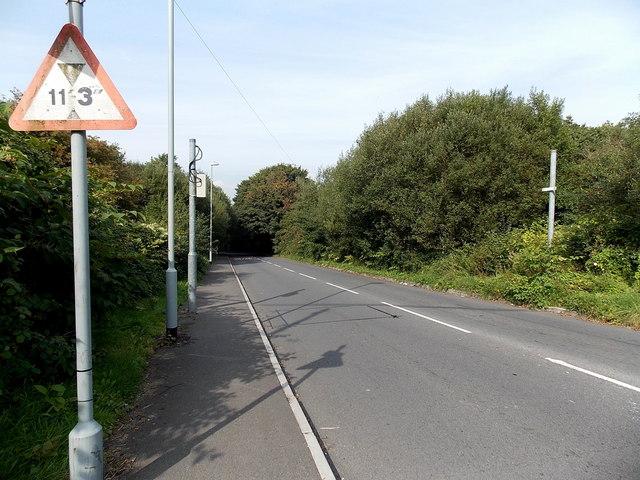 Ystrad Road north of Cwmbach Road, Waunarlwydd