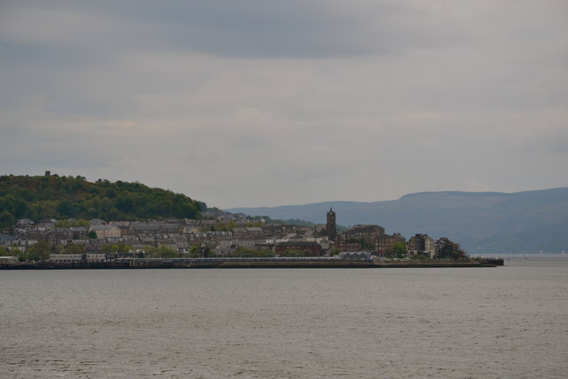 Gourock viewed from P&O's Adonia sailing out of Greenock