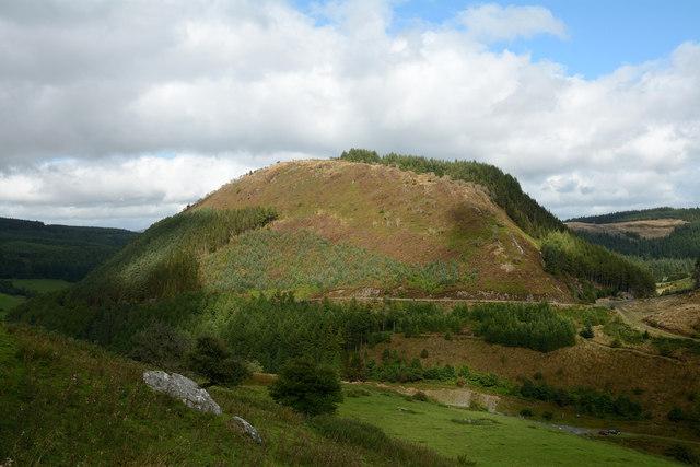 Hill slope descending towards Bwlch yr Hwch