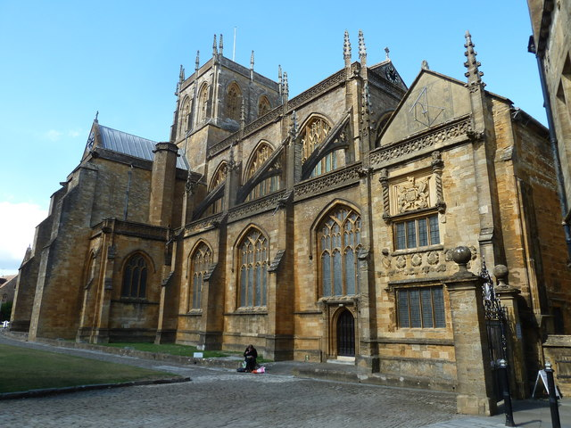 Early September at Sherborne Abbey