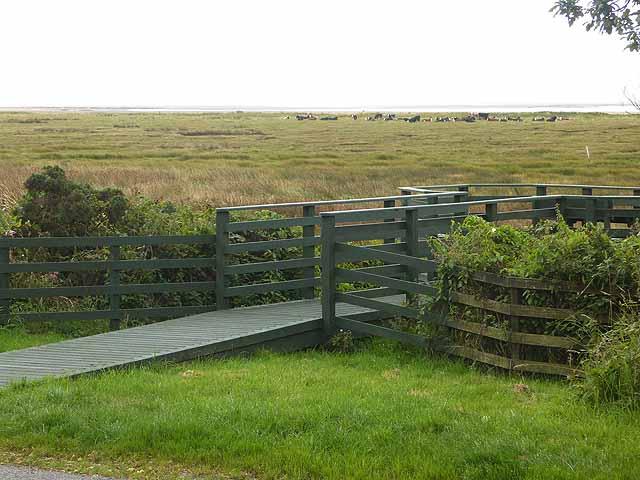 Viewing platform at the Caerlaverock National Nature Reserve