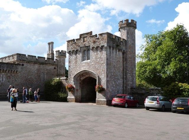Gatehouse and Courtyard, Powderham Castle