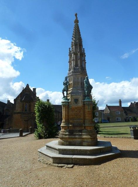 Memorial opposite the abbey