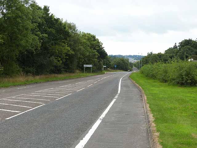 The old A74 at Johnstonebridge