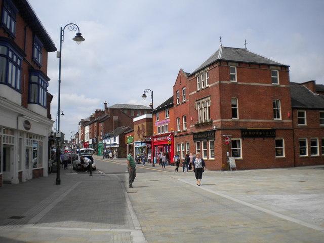 East end of Derby Street, Leek