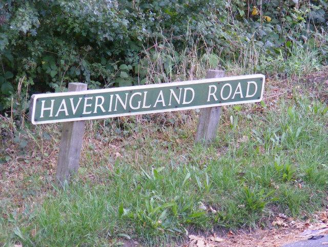 Haveringland Road sign