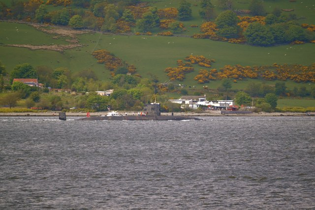 Submarine in the Firth of Clyde, off Gourock - 1