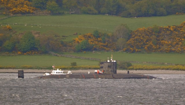 Submarine in the Firth of Clyde, off Gourock - 2