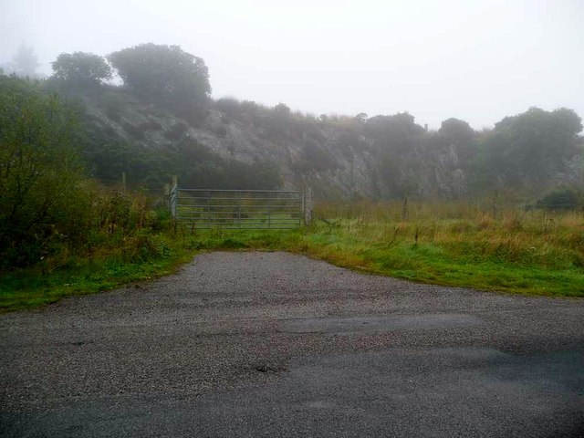 Disused quarry by the B842