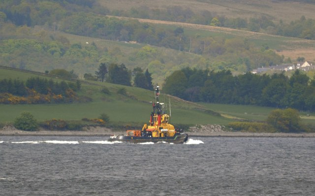 SD Jupiter in the Firth of Clyde, off Gourock