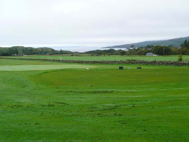 The golf course at Carradale
