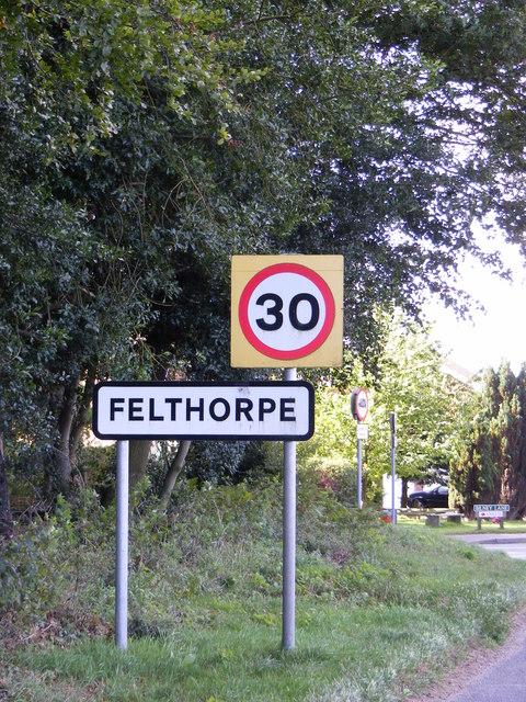 Felthorpe name sign