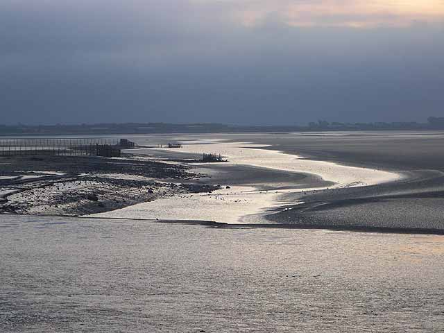 Early morning on the Solway tidal flats