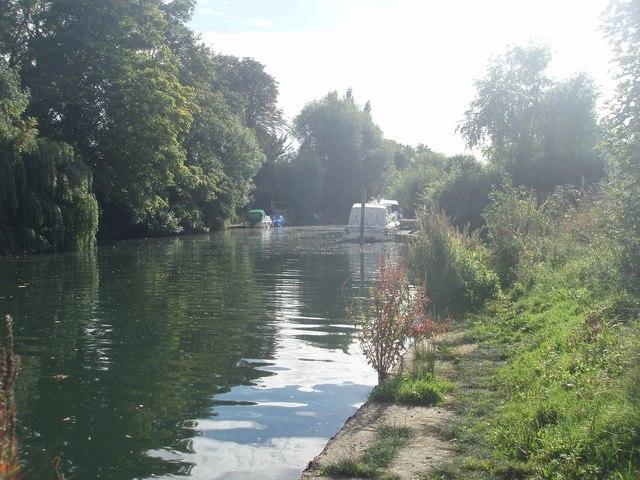 River Thames backwater at Sunbury
