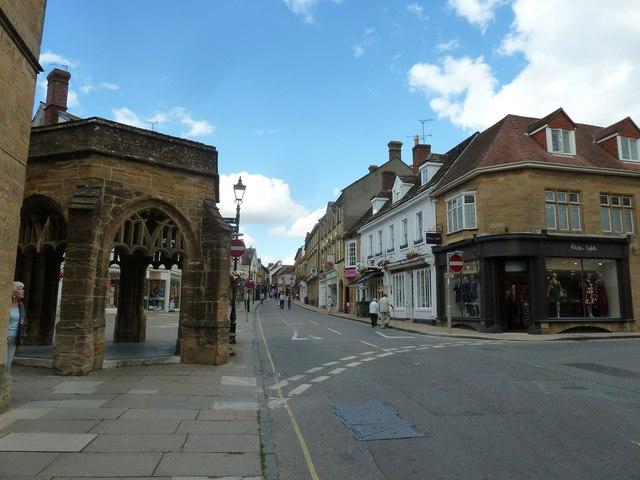 Bottom end of Cheap Street