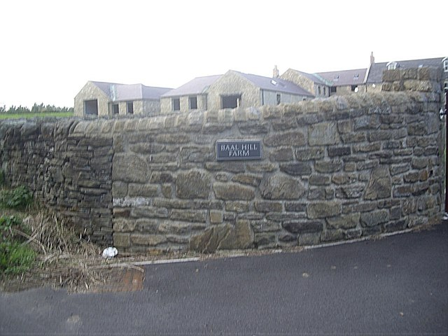 Access to Baal Hill farmhouse