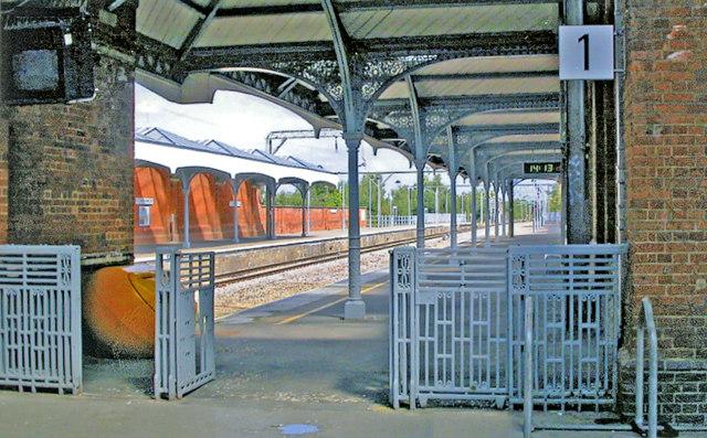 Hertford East station, 2009