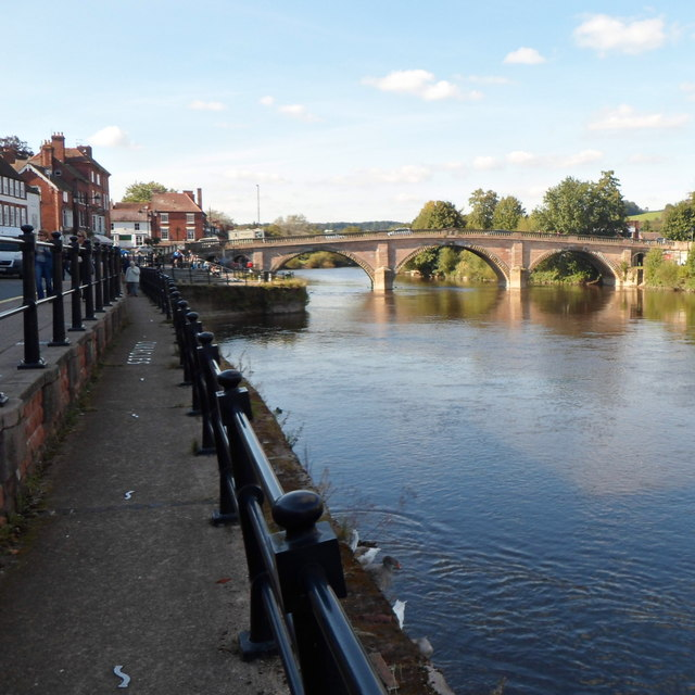 Bewdley Bridge viewed from Severn Side South, Bewdley