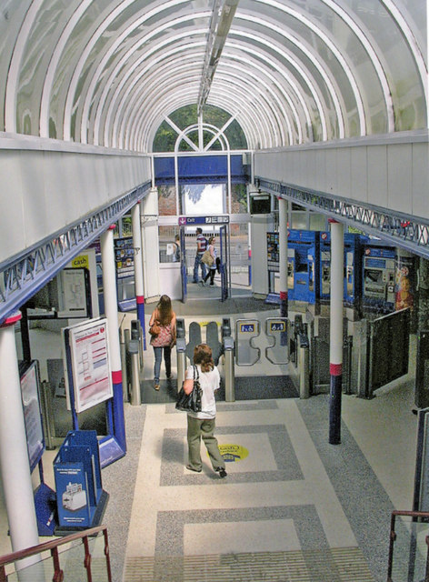 Hertford North station concourse