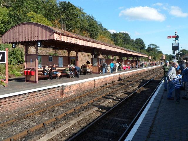 Platform 2 at Bewdley railway station
