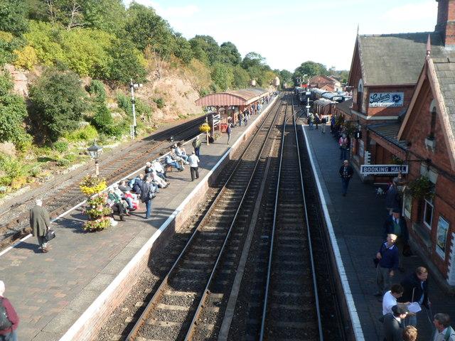 View ESE from Bewdley railway station footbridge