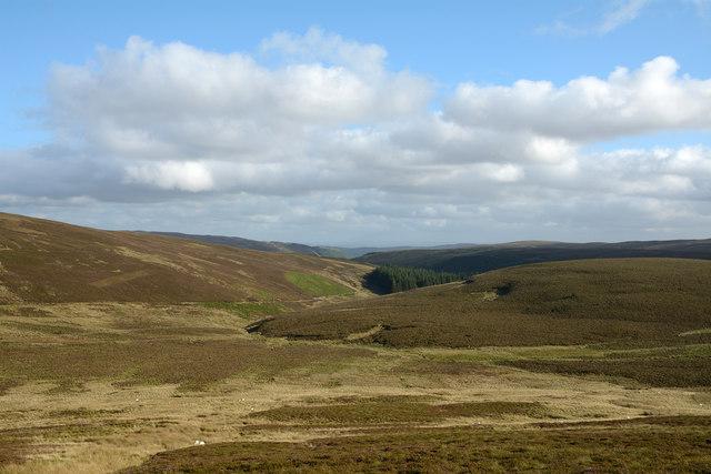 Minor road beginning descent into valley of Afon Nadroedd
