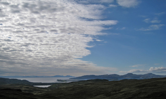 Altocumulus cloud over the Little Minch